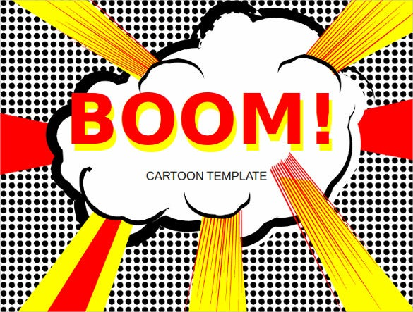 cartoon pop art template free ppt download