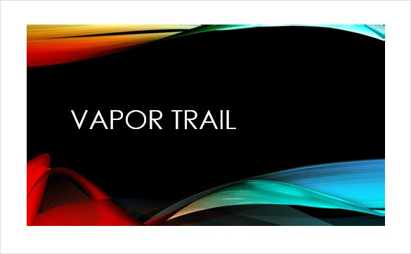 vapor trail microsoft powerpoint template download