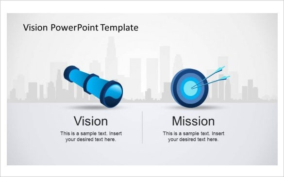mission and vision prefessional powerpoint template