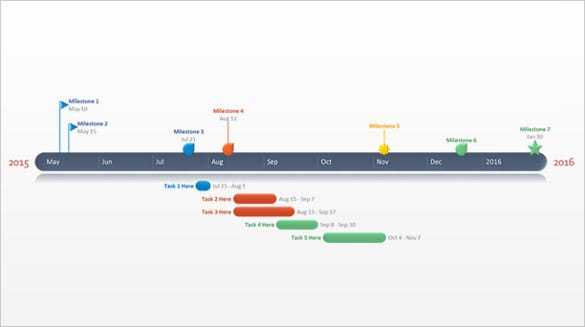 full year powerpoint timeline template free ppt