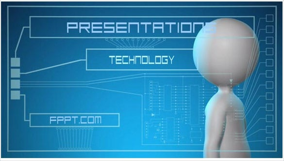 future interface animated powerpoint template download
