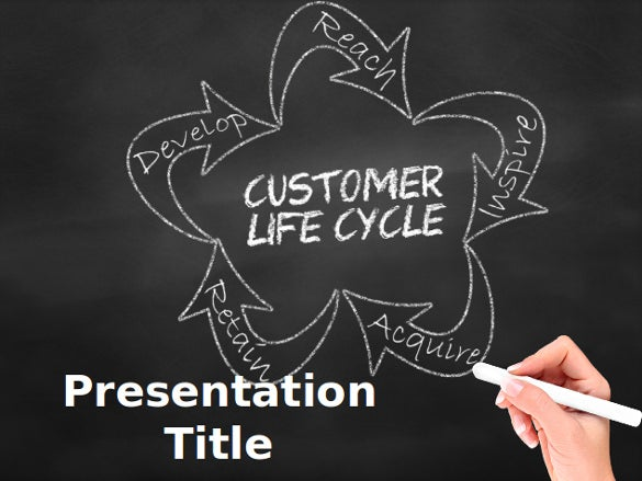 free download chalkboard customer lifecycle powerpoint template