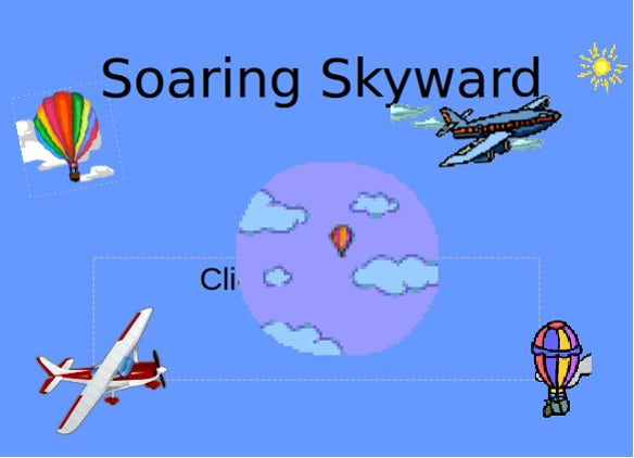 soaring skyward games powerpoint template download