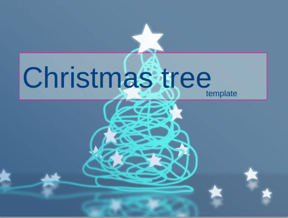 christmas tree powerpoint template download