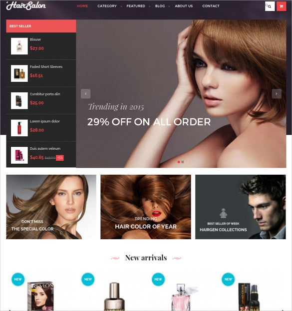 hair salon prestashop theme free