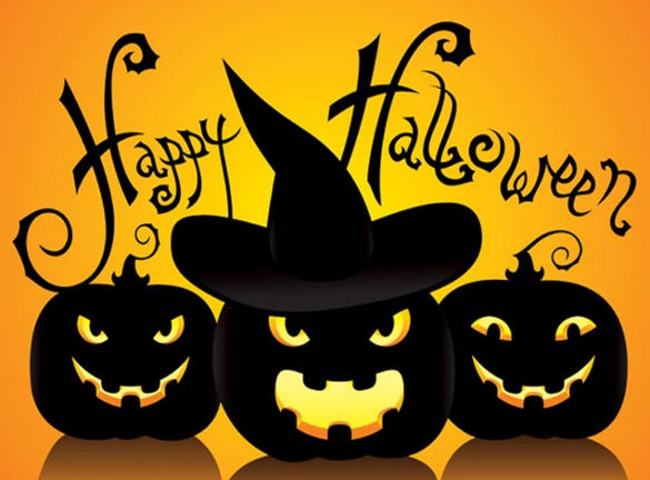 happy halloween ppt template free download