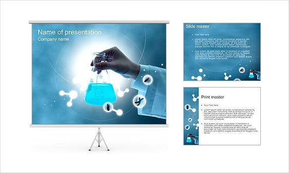 chemistry test tube scienece powerpoint template