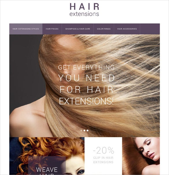 hair extensions salon prestashop theme