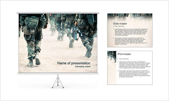 download army powerpoint template