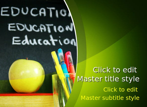 education school powerpoint template free download1