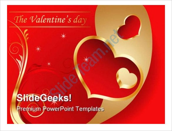 valentine day holidays powerpoint template download