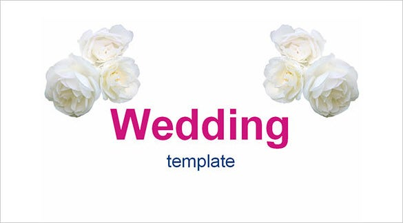 wedding flowers powerpoint template free download