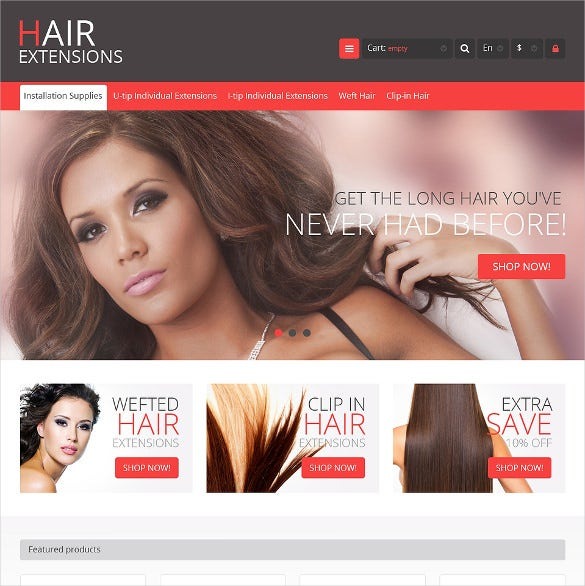 luxury hair salon prestashop theme
