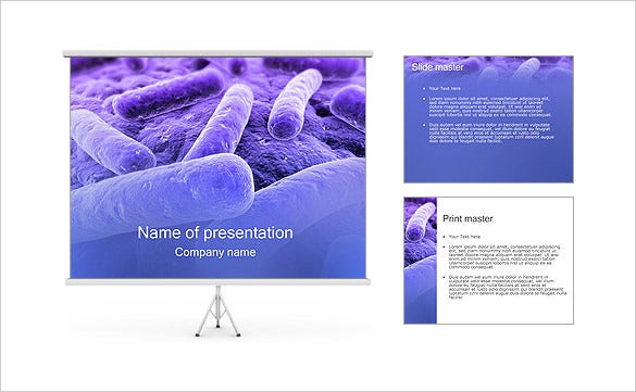 bacteria powerpoint template slides download