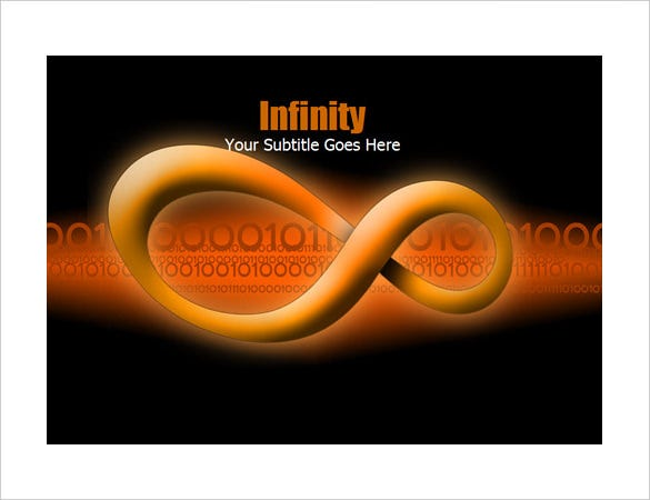 3d infinity figure powerpoint template download
