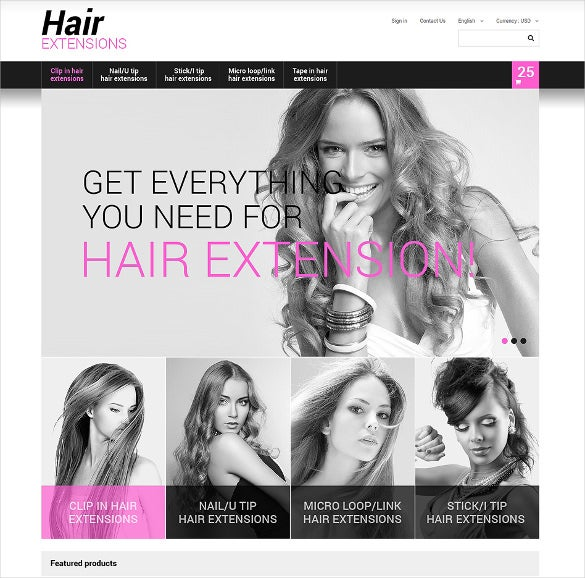 long hair extension salon prestashop theme
