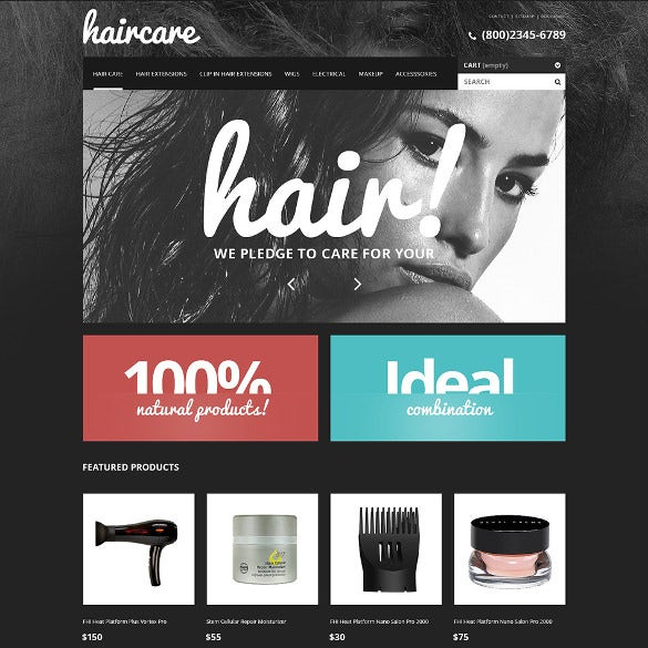 hair care products salon prestashop theme