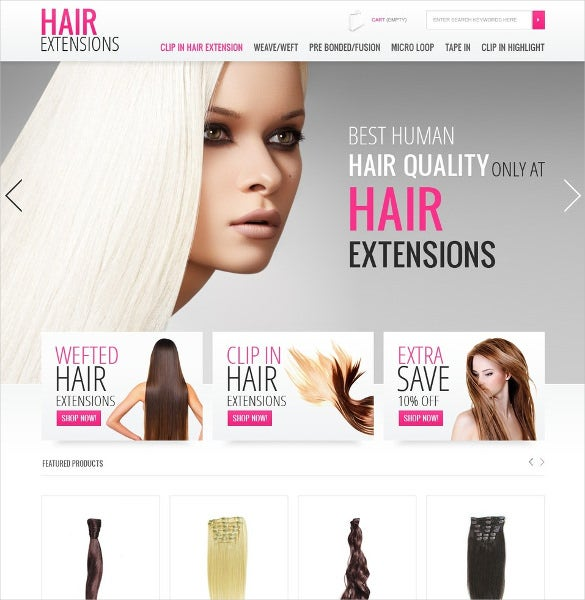 beautiful salon for hair extension prestashop theme