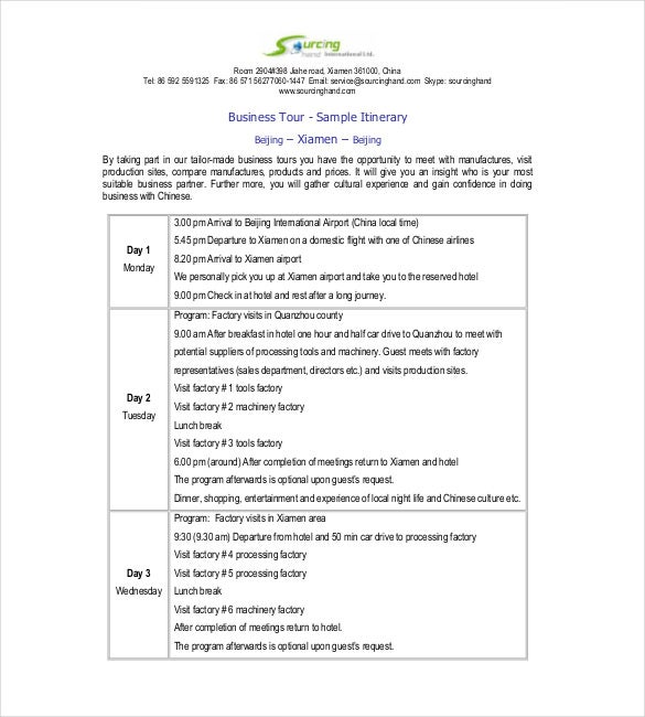 Business meeting itinerary template ukrandiffusion meeting itinerary template herobillions ml friedricerecipe Image collections