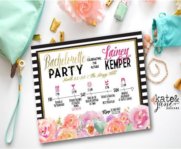 bachelorette party itinerary