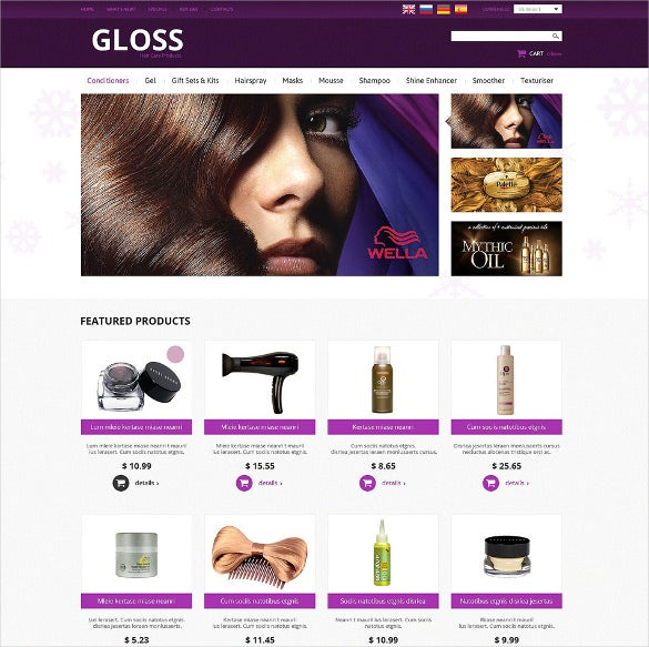 hair salon psd template
