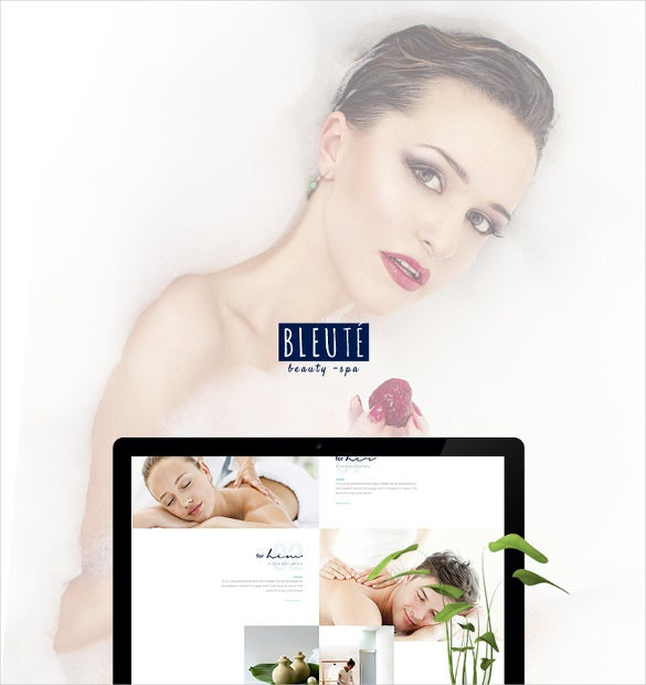 beauty spa hair wellness salon psd theme1