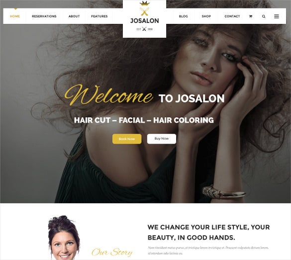 restaurant spa hair salon psd template