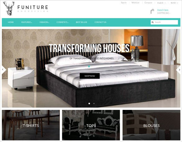 free furniture store prestashop template