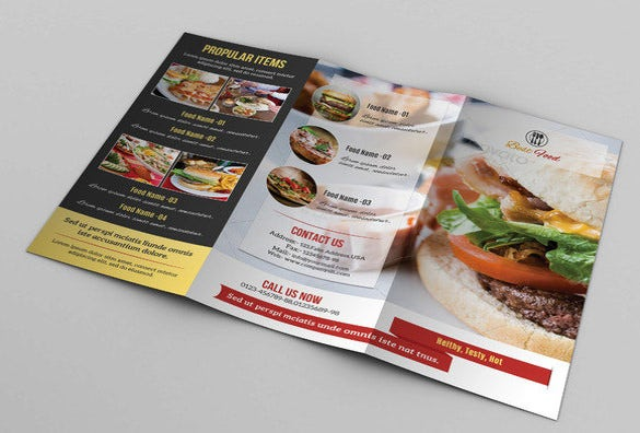 food menu template for restaurant
