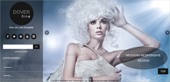 free beauty shop zencart theme