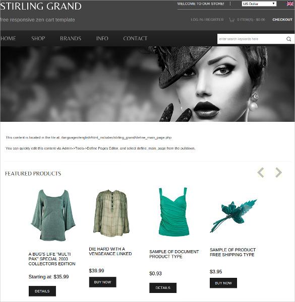 13+ Free ZenCart Themes & Templates | Free & Premium Templates