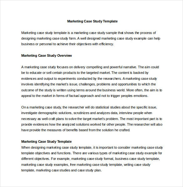 Case template 11 free word pdf psd documents download for Template for writing a case study