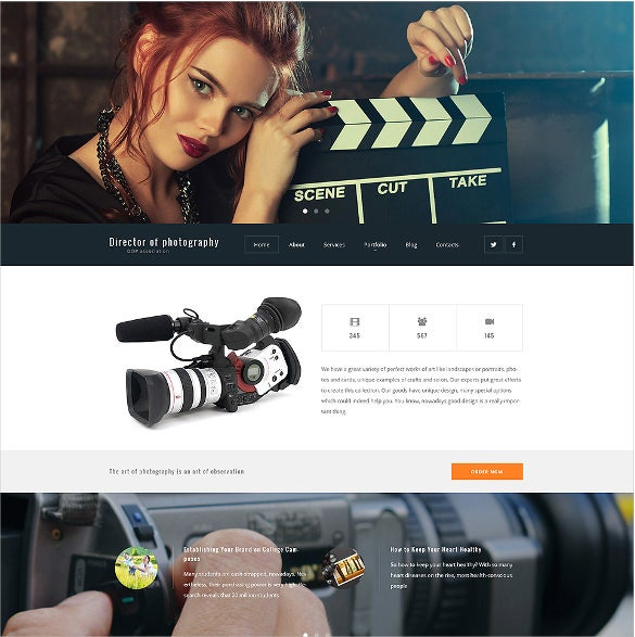 director of photography wordpress blog theme1