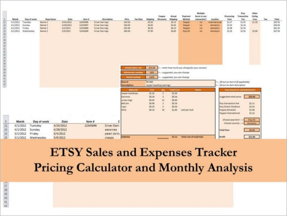 sales tracking excel spreadsheet instant download