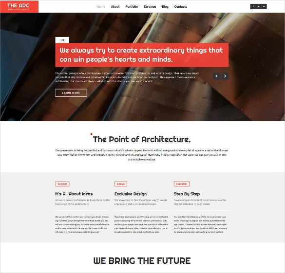 architecture responsive wordpress blog theme