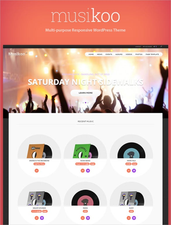 21+ Music Blog Themes & Templates | Free & Premium Templates