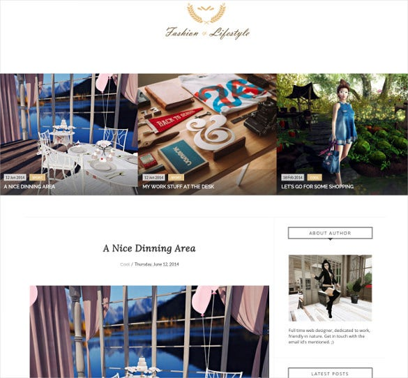 lifestyle responsive blogger template