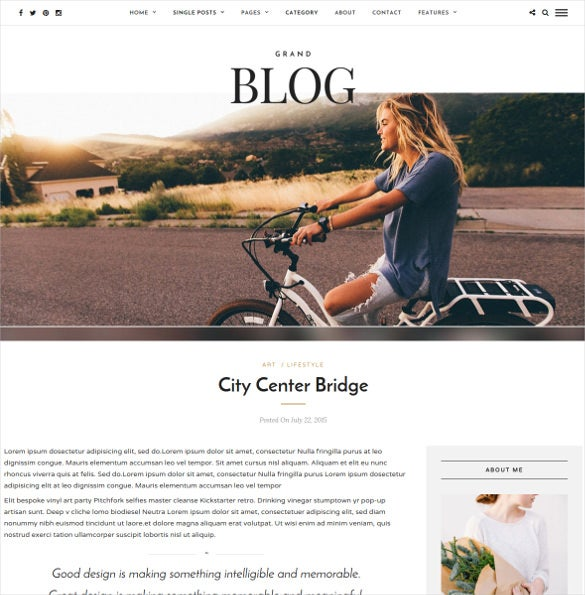 responsive presonal blog theme download