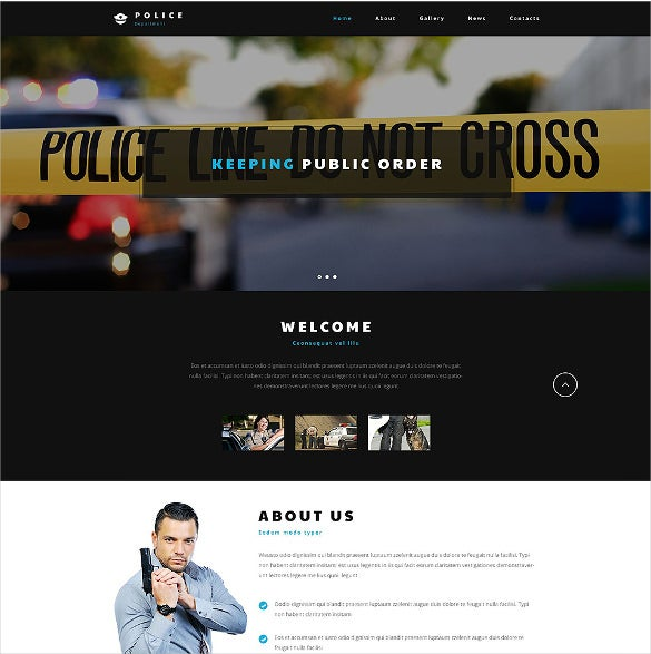 police entity psd website template