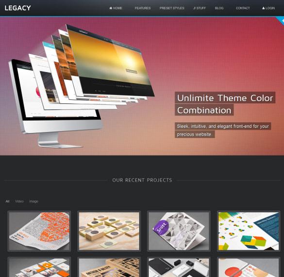 legacy responsive joomla theme