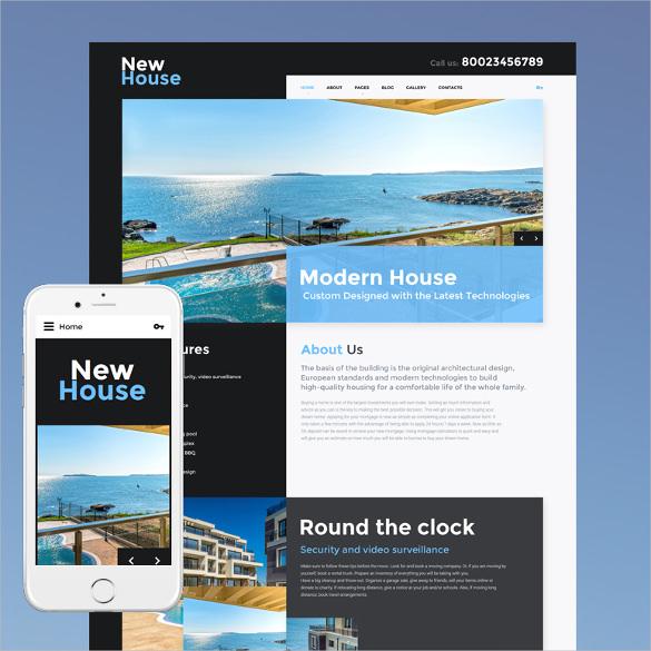 new house responsive joomla template