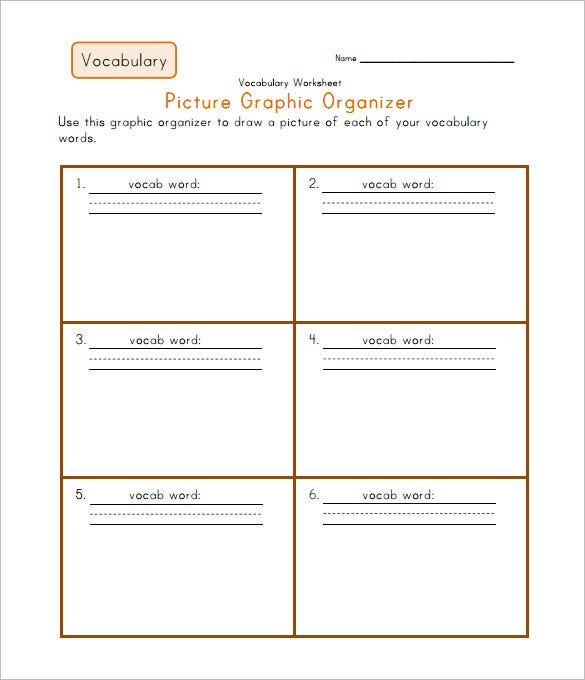 blank graphic organizers for vocabulary worksheet pdf