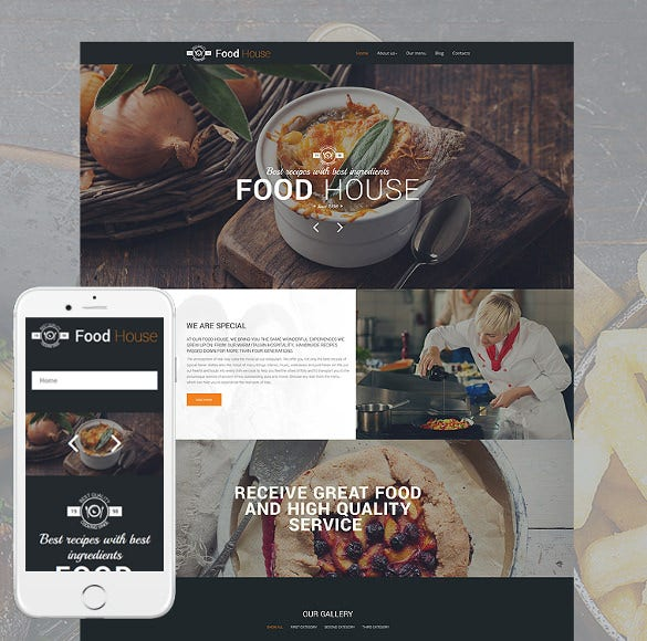 food house responsive drupal template