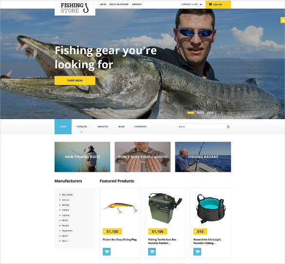 fishing responsive html5 template