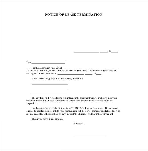 Lease Template   Free Word Excel Pdf Documents Download