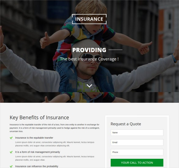 insurance responsive html5 template
