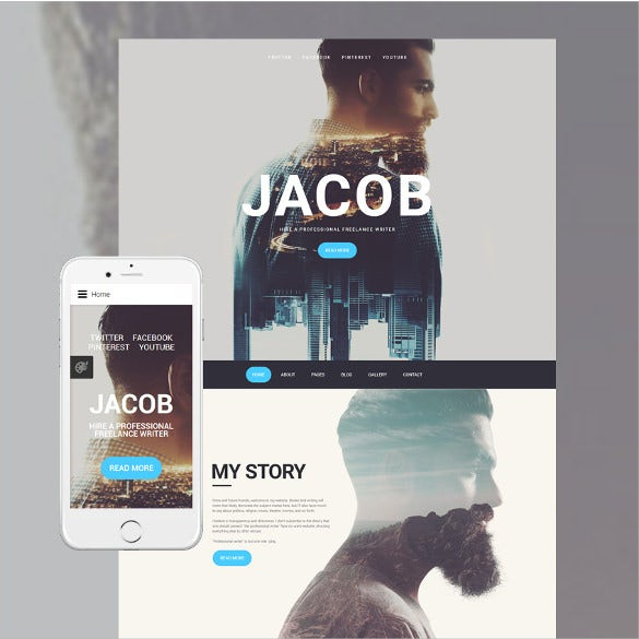 jacob html5 template premium download