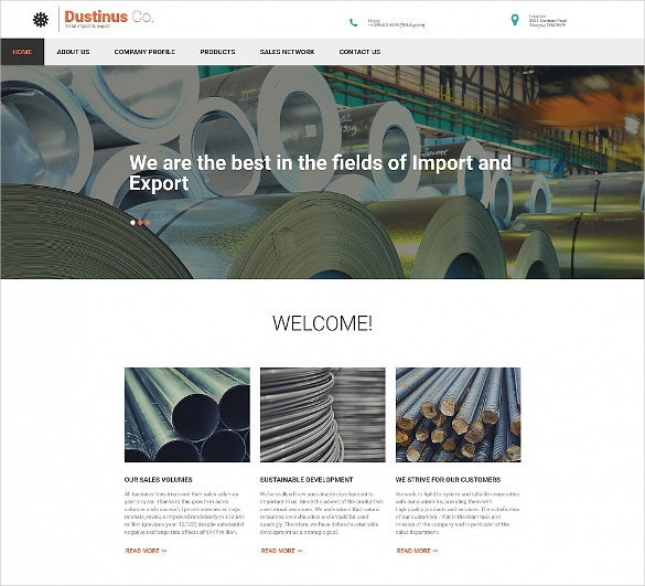 superb industrial business html5 website template