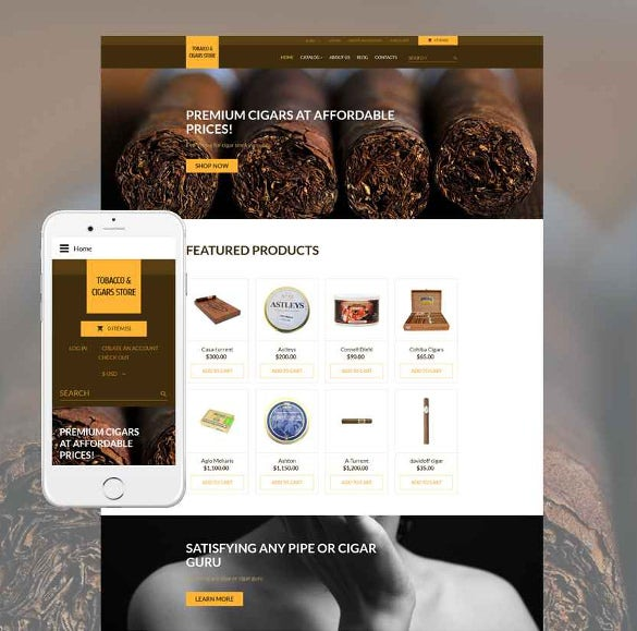 tobacco responsive virtuemart bootstrap template