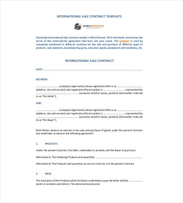 Contract Template – 24+ Free Word, Excel, Pdf Documents Download